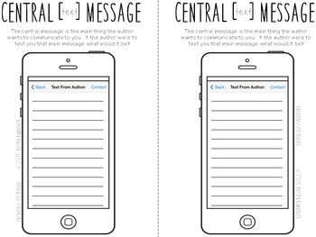 Theme Graphic Organizers & Central Message using iPhones
