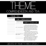 Theme Comprehension and Text Dependent Analysis - Paper & Digital