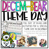 Decem-BEAR Theme Day Pack: Teddy Bear Day Fun in December or anytime