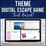 Theme Digital Escape Game for Middle School   Text-based