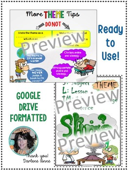 THEME DIGITAL INTERACTIVE NOTEBOOK FOR MIDDLE SCHOOL ENGLISH