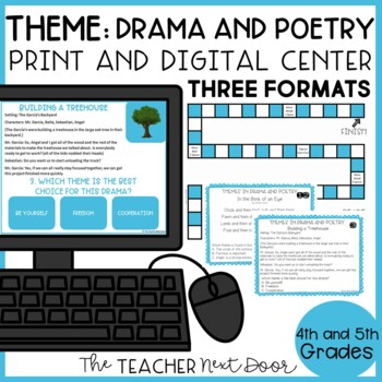 Theme: Drama and Poetry Game   Theme Drama and Poetry Center