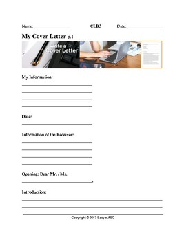 Theme: Employment - Writing a Cover Letter for the LINC / ESL Class: CLB 3