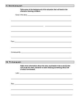 Theme Essay Outline Worksheet
