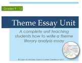 Theme Essay Unit