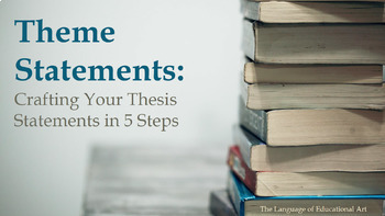 Theme Essay Workshop For Any Literary Work (Common Core Aligned)