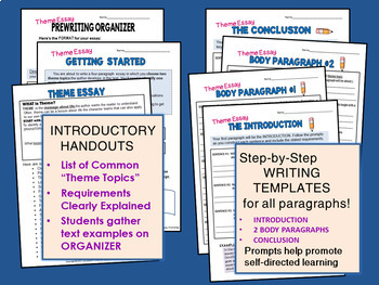 Theme Essay - Literary Essay Writing for ANY Novel, Story, or Drama COMMON CORE