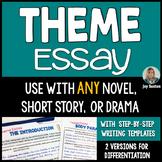 Theme Essay - Literary Essay Writing for ANY Novel, Story,