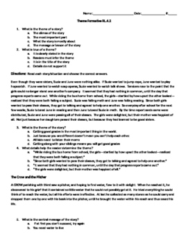 Theme Formative Assessment