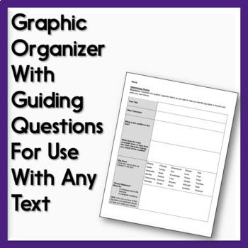 Theme Activity for Any Text: Graphic Organizer & Collage