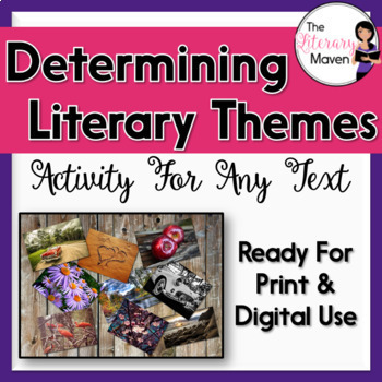 Theme Activity for Any Text: Graphic Organizer & Collage ... Universal Themes In Literature Pdf