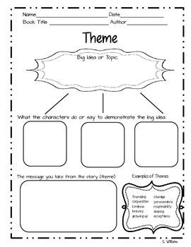 Theme Graphic Organizer Free