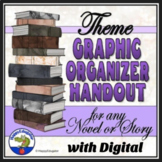 Theme Graphic Organizer Handout and Worksheets for any Novel or Short Story
