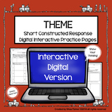 Theme Constructed Response Distance Learning Practice Pages
