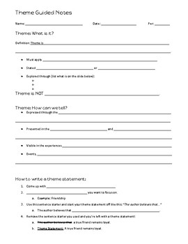 Theme Guided Notes