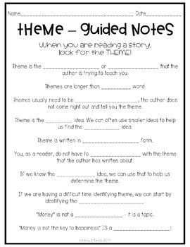 how to find theme in literature