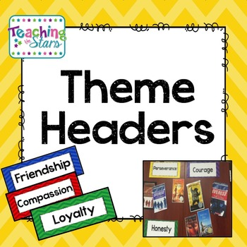 Themes in Literature Headers Freebie