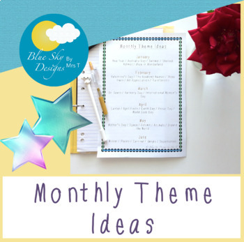 Theme Ideas by Month (Aussie Edition)