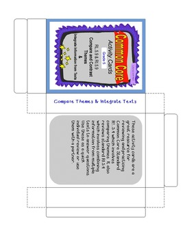Theme & Integrate Texts Grade 5 Common Core RL.5.9 and RI.5.9