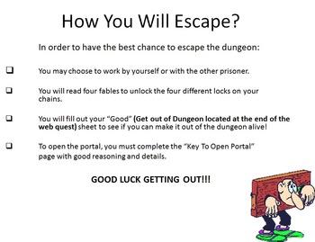 Theme Interactive Dungeon Webquest