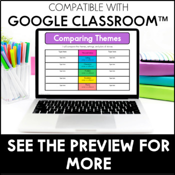 Theme - Reading Interactive Notebook