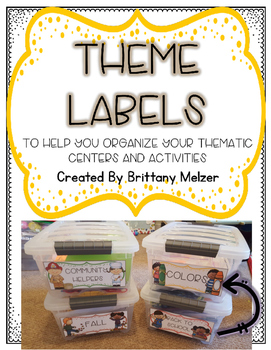 Theme Labels for Plastic Tubs
