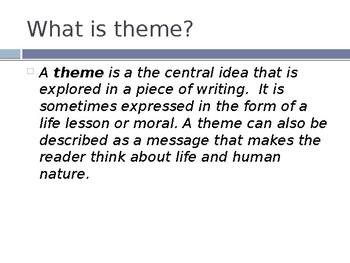 Theme: Lesson 1