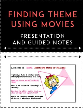 Theme Lesson: Finding Theme Using Movies
