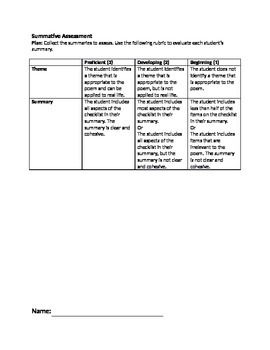 Theme Lesson Plan