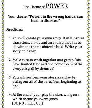Theme Analysis Lesson Plan (Everything Included)