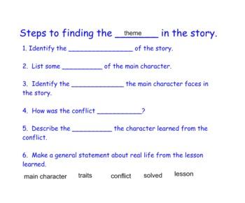 Theme Lesson Plan (Narrative Elements)
