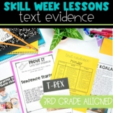 Text Evidence Lesson Plans with Activities