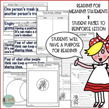 Finding Theme Read Aloud and Comprehension Activities - Rosie Revere, Engineer