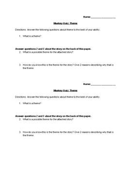 Theme Mastery Quiz