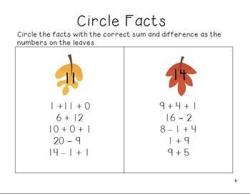 Theme Math Packet - Autumn Math