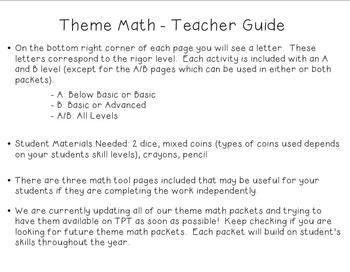 Theme Math Packet - Snowmen Math