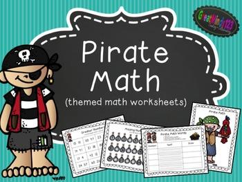 Theme Math Worksheets - Pirate Math