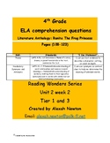 Theme- McGraw Hill Reading Wonders Series Literature Anthology U2W2 4th grade