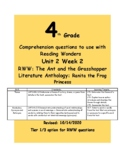 Theme- McGraw Hill Reading Wonders Series RWW U2W2 4th grade