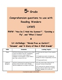 Theme- McGraw Hill Reading Wonders Series U4W5