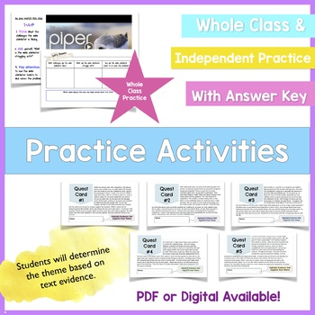 Theme Mini Lesson with Notes and Activity Middle School