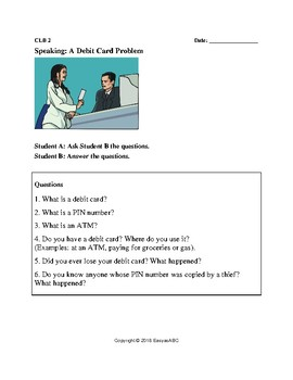 Theme: Money and Banking - Debit, Credit, Cheques and Banking for LINC/ESL:CLB 2
