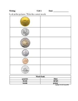 Theme: Money and Banking- Writing for LINC/ESL : CLB 1