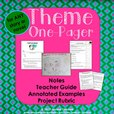 Theme Notes and One-Pager Book Project with Examples and Rubric