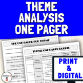 Print & Digital One Pager | Identifying Theme and Main Ide