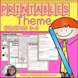 Theme Printables, Theme Worksheets,  (Theme, Central Message, Teaching Theme)