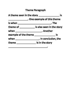 Theme Paragraph Outline