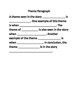 Theme essay outline
