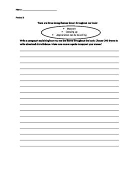 Theme Paragraph- Period 8