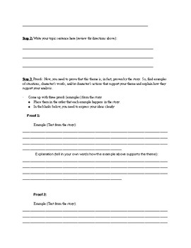 Theme Paragraphs